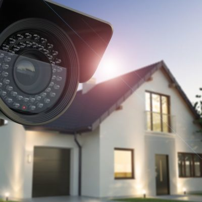 Security camera and house